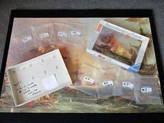 Bombardment of Algiers, 1816 (pefkosmad) Tags: jigsaw puzzle hobby leisure pastime ravensburger 3000pieces complete used secondhand bombardmentofalgiers painting art fineart ships georgechamberssnr sea navalhistory anglodutch