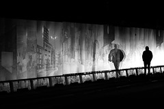 A man and his shadow (Birdhouse camper) Tags: copenhagen denmark mood fujifilm fuji xt2 fujixt2 blackandwhite blackwhite street silhouette shadow