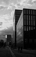 End of working day (ASTPic) Tags: x100 fuji noiretblanc bw dark wetter save bank swiss zurich astpic finance