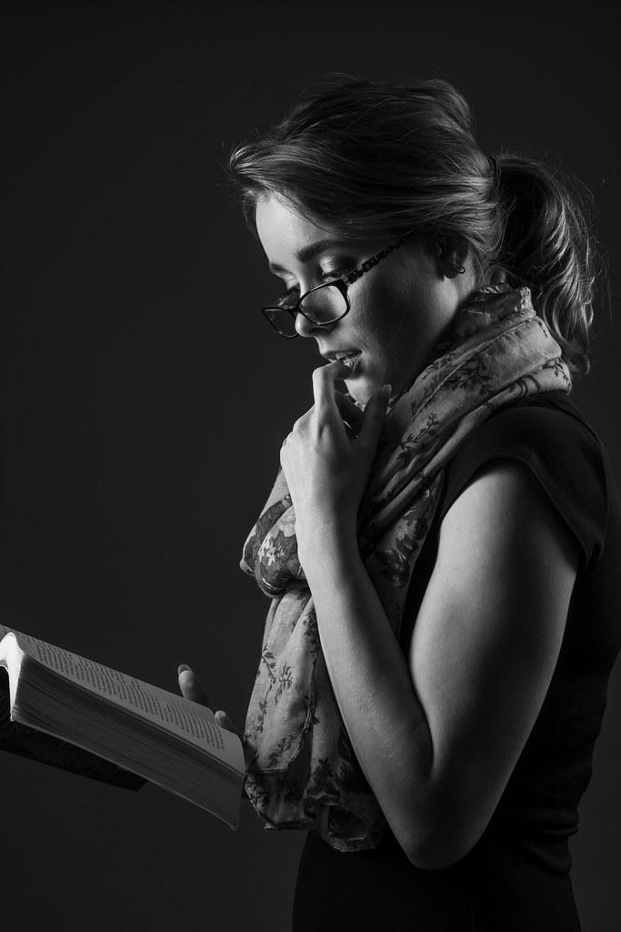 Jasmine (sengsta) Tags  blackandwhite portrait jasmine studio model female  librarian bookish cc501948f