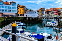 Llanes (Laura GZ) Tags: blue port boat building mar cielo sea ciudad sky españa asturias city