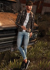 LOTD 415 (Brendo Schneuta) Tags: modulos realevil versov galvanized shirt pants jeans hair pose poses intoxx gift sneakers uber necklace car tmd level event events bento catwa men male boy moda fashion style estilo new releases game avatar virtual keepcalm blog bloggersl secondlifeblog second sl secondlife brendo