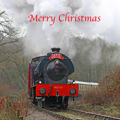 Merry Christmas (Roger Wasley) Tags: wd152 rennes austerity saddletank engine 06ost dean forest railway norchard steam locomotive train heritage preservation unslet santaspecial