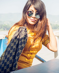 Myanmar girl (Laszlo Horvath.) Tags: nikond7100 sigma1835mmf18art myanmar burma mandalay portrait portraiture sunglass