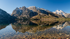 Jenny Lake ((JAndersen)) Tags: jennylake grandteton grandtetonnationalpark tetons wyoming landscape water reflection mountains clear nikon nikkor2470mmf28ged d810