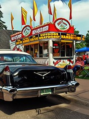 Hot Dogs & Bratwurst (novice09) Tags: backtothefifties carshow cadillac vinci ipiccy artistic