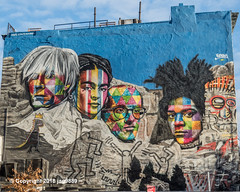 """Mount Rushmore with Andy Warhol, Frida Kahlo, Keith Haring and Jean-Michel Basquiat"" Mural (2018) by Eduardo Kobra, Chelsea, New York City (jag9889) Tags: 10av 10ave 10thavenue 2018 20181203 andywarhol architecture artist brazil building chelsea color diner eduardokobra empirediner face frida fridakahlo graffiti house kahlo keithharing kobra manhattan mexican monumental mountrushmore mural muralist ny nyc newyork newyorkcity outdoor painter painting portrait sign streetart streetartist tagging tenthavenue text usa unitedstates unitedstatesofamerica wall window jag9889"