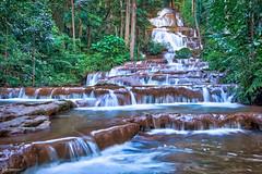 Pha Charoen Waterfall-3 (Sauken Laula Photos) Tags: thailand maesot waterfall terraced jungle water rocks