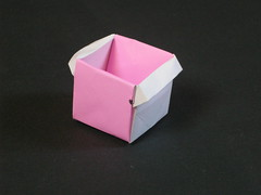 Cubic masu with handles Tuto (Mélisande*) Tags: mélisande origami box masu
