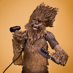 Drying a Wookie (Jezbags) Tags: drying wookie starwars chewie chewbacca toy toys ba shfiguarts canon canon80d 80d 100mm closeup upclose macro macrophotography macrodreams hair hairdryer brush wet