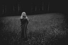 Lady of the Meadow #2 (trm42) Tags: 55mm blueeyes contrastgram contrasty moodygram sarkaviitta sipoonkorpi sonya7ii storygram tfcd tfcdfinland tfcdsuomi tfp tfpmodel vignetting