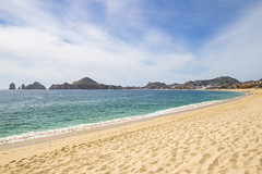 The Bay and Beach at Cabo San Lucas (aaronrhawkins) Tags: cabosanlucas beach bay rock formation arch baja peninsula mexico sand waves ocean pacific seaofcortez beautiful clear vacation water aquamarine turquoise aaronhawkins