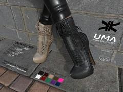 Uma :: Ankle Boots for Woman :: 10 Colors ({kokoia}) Tags: boots uma ankle mesh kokoia maitreya slink belleza woman booty winter heel high booties botas bota shoes eve tmp platform laces lace secondlife avatar 3d