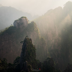 The Road to Damascus (Hilton Chen) Tags: autumn anhuiprovince dwarfpines foggy lightbeams landscape huangshannationalpark granitepeaks sunrise misty china yellowmountains huangshancity anhui cn