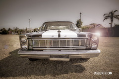 Ford Galaxie in the spotlight (Arranion) Tags: car motor motoring auto automobile ford galaxie galaxy v8 classic vintage old school black canon 5d