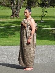 Waitangi. Maori woman in a dress  with bird feathers. She is singing. (denisbin) Tags: whanganui wanganui wellington whellington harbour governmentbuilding maori maroiwoman waitangi marae singers dancers traditional wiamarie steamboat paddlesteamer whanganuiriver