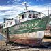 Derelict boat at Camaret-sur-Mer, Brittany, France
