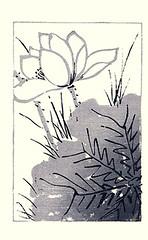 Sacred lotus (Japanese Flower and Bird Art) Tags: flower sacred lotus nelumbo nucifera nelumbonaceae nanga woodblock picture book japan japanese art readercollection