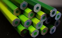 Macro Mondays - Green (annesjoberg) Tags: macromondays green grönt grön pencil colors colorful hmm happymacromondays