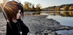 Beautiful Day~ (MlleChantilly) Tags: bjd bjdphotography dollphotography dolls souldoll soulkid fafner goth gothic gothique punk river water tree nature sun msd
