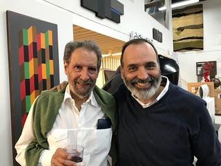 Venezuelan Film Producer Antonio Llerandi with artist Andres Michelena, current Director of the Juan Carlos Maldonado Art Collection