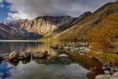 Watching the autumn storm coming (AgarwalArun) Tags: sony a7m2 sonyilce7m2 landscape scenic nature views easternsierra bishopca bishopcreek lakes leaves autumn fallfoliage mountains inyonationalforest convictlake