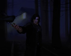 """"""" It can't rain all the time..."""" (maka_kagesl) Tags: second secondlife sl game gaming virtual videogame cosplay crow thecrow movie comic comics brandon lee brandonlee avatar avi dark darkness"""