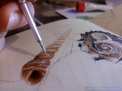 Summertime memory detail #2 (Daria Kucharczyk (LionheART)) Tags: art artist artwork aquarelle sand watercolor watercolors watercolour drawing realistic beach sea shells sketchbook pencil sketches sketching summer detail