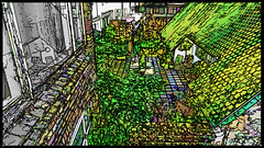 the green house (j.p.yef) Tags: peterfey jpyef yef photomanipulation digitalart netherlands niederlande denhaag scheveningen city houses elitegalleryaoi bestcapturesaoi