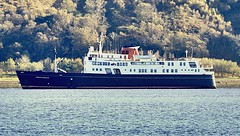 Hebridean Princess off Lamlash Arran (Dave Russell (1 million views thanks)) Tags: clyde isles macbrayne caledonian steamer mail scottish columba rms ferry calmac favorite queen majesty her royal hebridean princess cruise boat ship vessel vehicle passenger transport water sea ocean maritime lamlash holy isle island arran west western scotland moored mooring outdoor travel tourism canon eos eos7d 7d uk