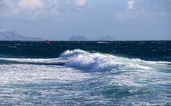 La Voile Rouge (Bernard C **) Tags: canon france provence paca provencealpescôted'azur bouchesdurhône saussetlespins mer méditerranée plancheàvoile windsurf