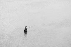 Fisherman (man_from_siberia) Tags: fisherman fisher man fishing water minimalism monochrome blackandwhite blackwhite canon eos 200d dslr canoneos200d canon200d canonrebelsl2 canonef80200mmf28l