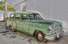 Chevrolet Station Wagon (olds.wolfram) Tags: auto car oldtimer olds1 explore flickr topaz software