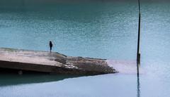 Massive. (Adrien GOGOIS) Tags: saintmalo france beach water sea ocean port fishing horizon wall beton reflect reflexion people man flat outdoor natural light shadow color blue cloudy sony laea4 a mount zoom adapted grey dark