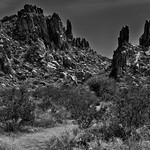 An Unearthly Look to a Big Bend Landscape (Black & White, Big Bend National Park) thumbnail