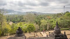 Borubudur (Hans van der Boom) Tags: vacation holiday asia indonesia indonesië java people borududur candi temple landscape borubudur id