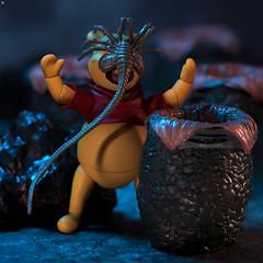 Wrong Honey Pot (Jezbags) Tags: wrong honey pot toy toys winniethepooh winnie pooh alien facehugger horror macro macrophotography macrodreams canon canon80d 80d 100mm disney