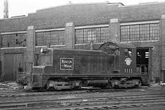 Boston & Maine EMC SW1 #1111 at Boston, MA (Houghton's RailImages) Tags: bostonmaine bm emc sw1 diesel locomotive railroad bw trains locomotives boston massachusetts usa