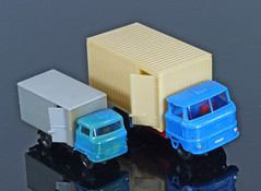 TT and HO IFA W50 vans made in the DDR (adrianz toyz) Tags: ifa w50 tt ho 1120 187 scale plastic ddr gdr eastgermany plastspielwaren berlin