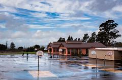 Schoolyard (Dan Brekke) Tags: berkeley northberkeley schools clouds rain