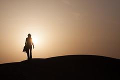 . (Riccardo Romano) Tags: desertothar escursionefuorijaisalmer india silhouette girl woman womne ragazza donna controluce contraluz desterto sun sole light tramonto sunset duna dune cappello hat