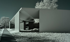 Menil Drawing Institute (infrared) (dr_marvel) Tags: ir infrared houston tx texas menil menildrawinginstitute art artwork artists drawings museum archtecture