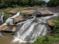 Reedy Waterfalls (Joey Hinton) Tags: falls park reedy river waterfall bridge google pixels android smartphone cellphone cameraphone greenville south carolina