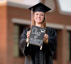 2017_04-Amanda-Grad 2206 (Jeremy Herring) Tags: cap girl gown graduate graduation individuals outdoor photography photos portrait schreineruniversity woman