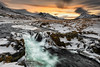 Wilderness (Pete Rowbottom, Wigan, UK) Tags: iceland landscape sunset snow winter 2018 colourful mountains river waterfall ice longexposure cloudmovement nisifilters peterowbottom nisis5 nikon1424f28 nikond810 northerniceland northernhighlands icelandic scandinavian sun light red yellow remote flowingwater desolate wild dramatic nature beautiful powerful december rocks outdoor outside sky sudurtingeyjarsysla wilderness barren