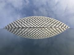 20190104_Selfridges Clam (Damien Walmsley) Tags: clam selfridges birmingham reflections mirror weather blue sky clouds pattern