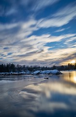 Windy sunset over glomma (Tom Helleboe) Tags: