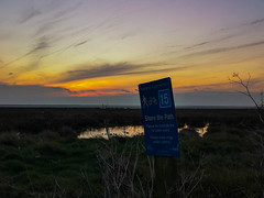 Share the Path and be considerate to other users. (@bill_11) Tags: england isleofthanet kent naturereserve places pegwellbay sunrise unitedkingdom weatherandseasons ramsgate gb cyclenetwork sign