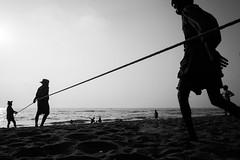 Marina Beach, Chennai (bmahesh) Tags: marinabeach beach chennai tamilnadu india people life street ricohgr