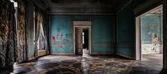 Help me . . . (-SebsTian-) Tags: old abandoned ligt blue castle panaorama urbex shadow dark mood